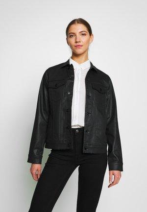 PCDALIA COATED JACKET - Džínová bunda - black