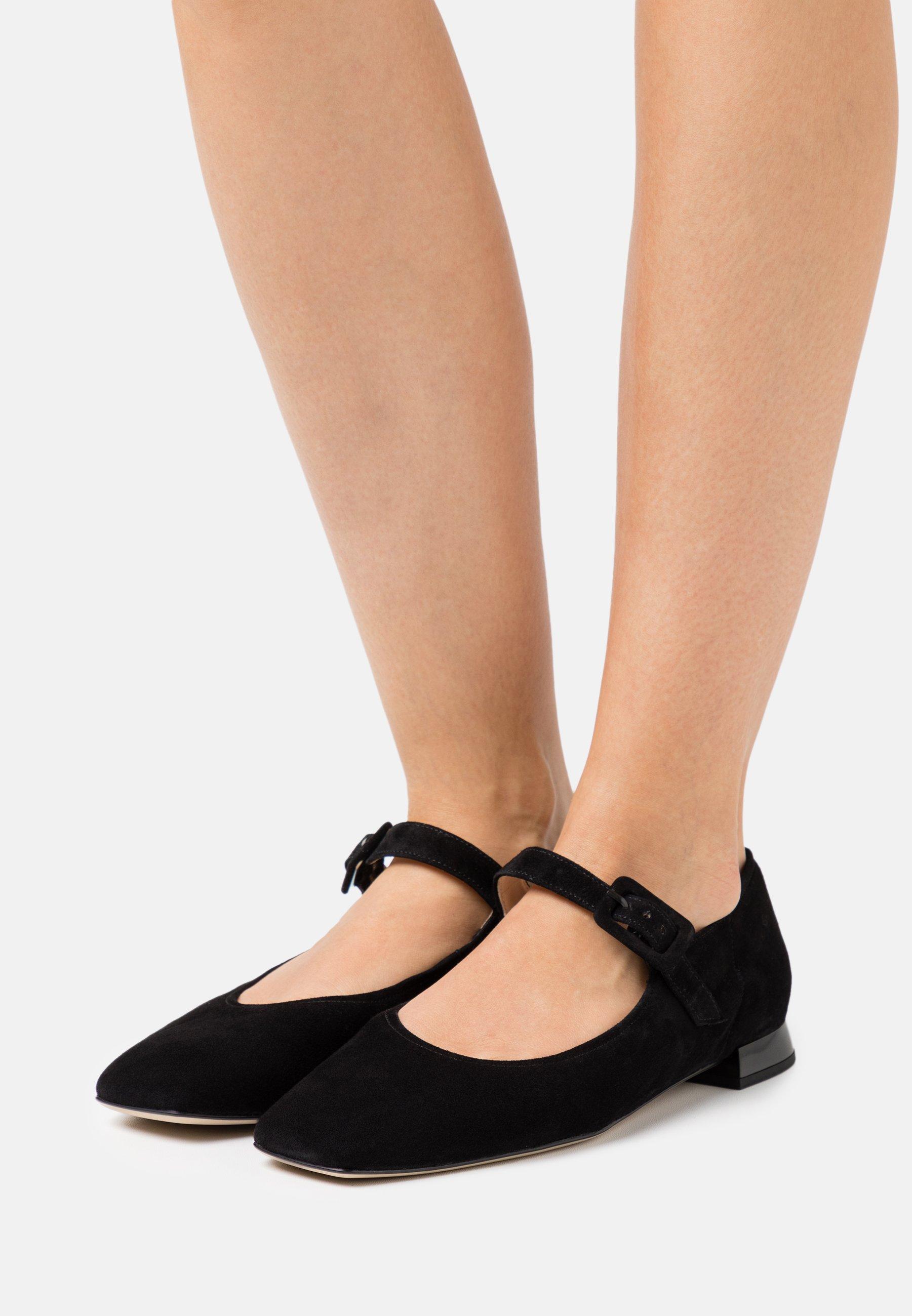 Women DUCKY - Ankle strap ballet pumps - schwarz