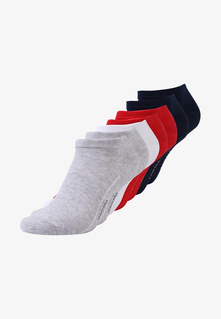 camano - SOFT SNEAKER BOX 7 PACK - Socks - true red/fog melange/blue/white