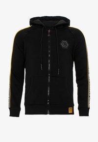 Cipo & Baxx - MIT MARKENSCHRIFTZÜGEN AM ARM - Zip-up hoodie - black - 0