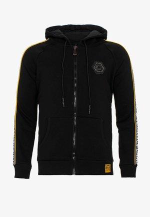 MIT MARKENSCHRIFTZÜGEN AM ARM - Zip-up hoodie - black