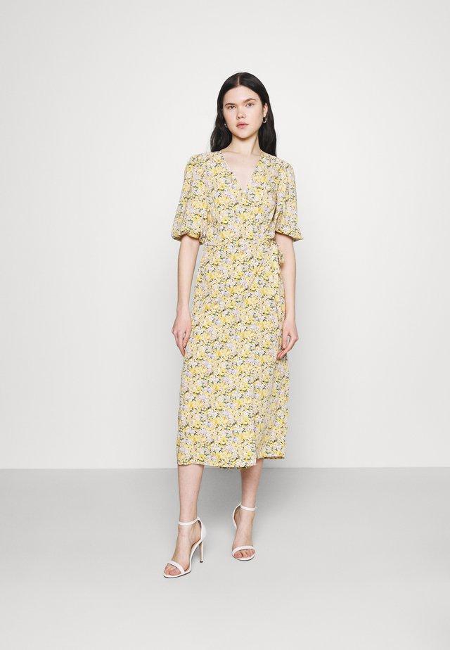 VIHALINA WRAP DRESS - Day dress - sunshine