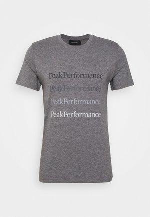 GROUND TEE  - Print T-shirt - grey melange