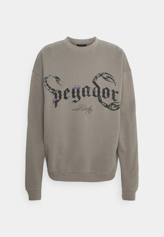 DEADWOOD OVERSIZED - Sweatshirt - washed frost gray