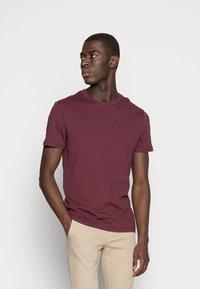 Pier One - 2 PACK - T-shirts basic - bordeaux - 1