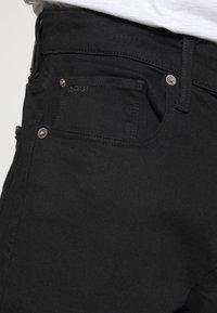 G-Star - 3301 SLIM SHORT - Denim shorts - elto nero black - 3