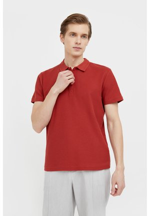 Polo shirt - red brown