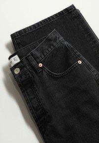 Mango - Straight leg jeans - black denim - 7