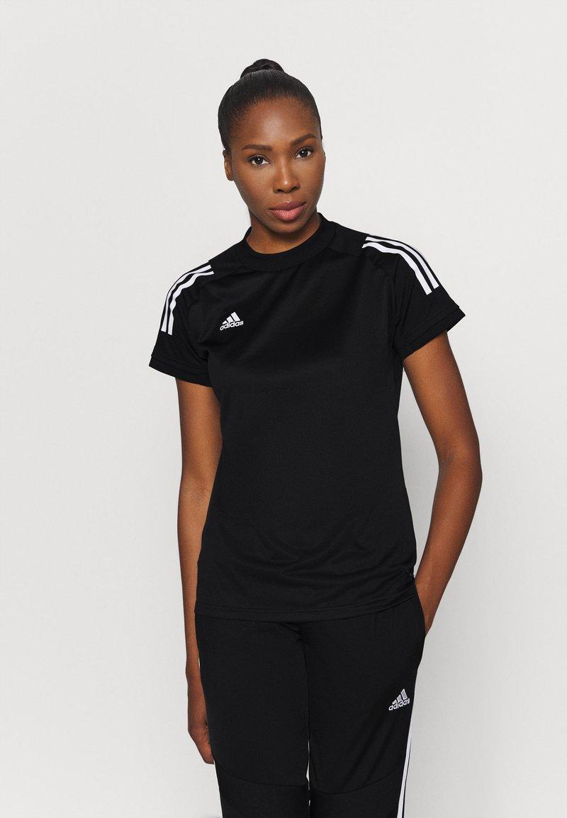 adidas Performance - Camiseta estampada - black/white