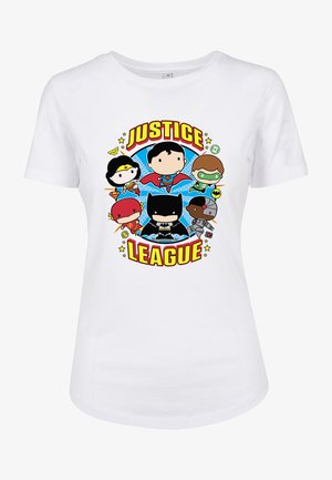 LADIES JUSTICE LEAGUE COMIC CREW FIT TEE - Print T-shirt - white