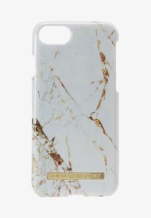 FASHION CASE MARBLE - Phone case - carrara/gold-coloured
