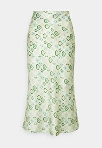 Never Fully Dressed - MARBLE PRINT SLIP SKIRT - Pencil skirt - green - 3