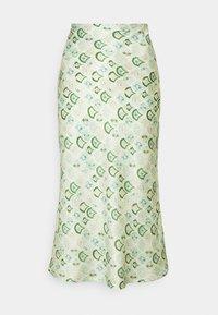 MARBLE PRINT SLIP SKIRT - Pencil skirt - green