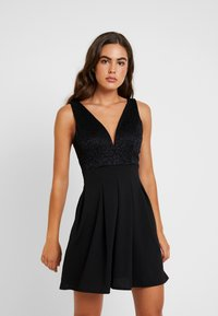 WAL G. - V NECK SKATER - Cocktail dress / Party dress - black - 0