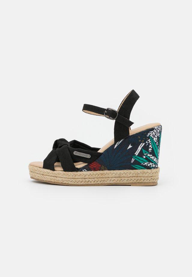 MAKITA - Korkeakorkoiset sandaalit - noir