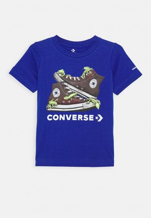 BIO CHUCKS TEE - Print T-shirt - blue