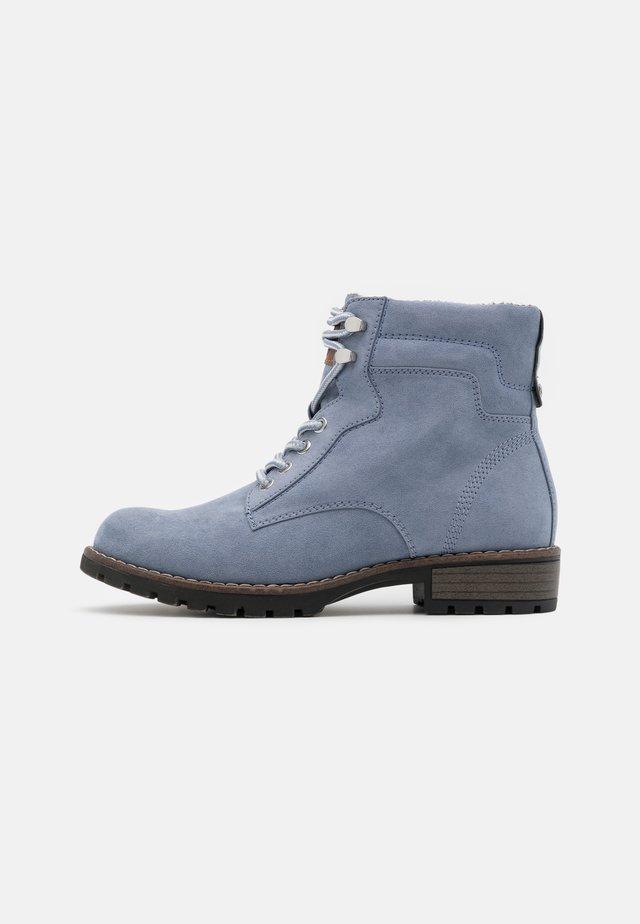 Šněrovací kotníkové boty - light blue