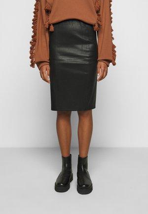 FLORIDIA - Jupe en cuir - black