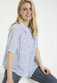 Cream - Button-down blouse - blue milkboy stripe - 3