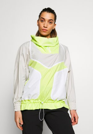 Windbreaker - tan/neon green
