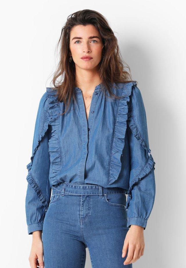 WITH FRILL - Overhemdblouse - indigo
