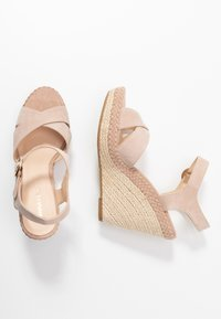 Anna Field - LEATHER - High heeled sandals - nude - 3
