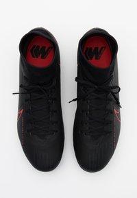 Nike Performance - MERCURIAL 7 ACADEMY SG-PRO AC - Screw-in stud football boots - black/dark smoke grey - 3