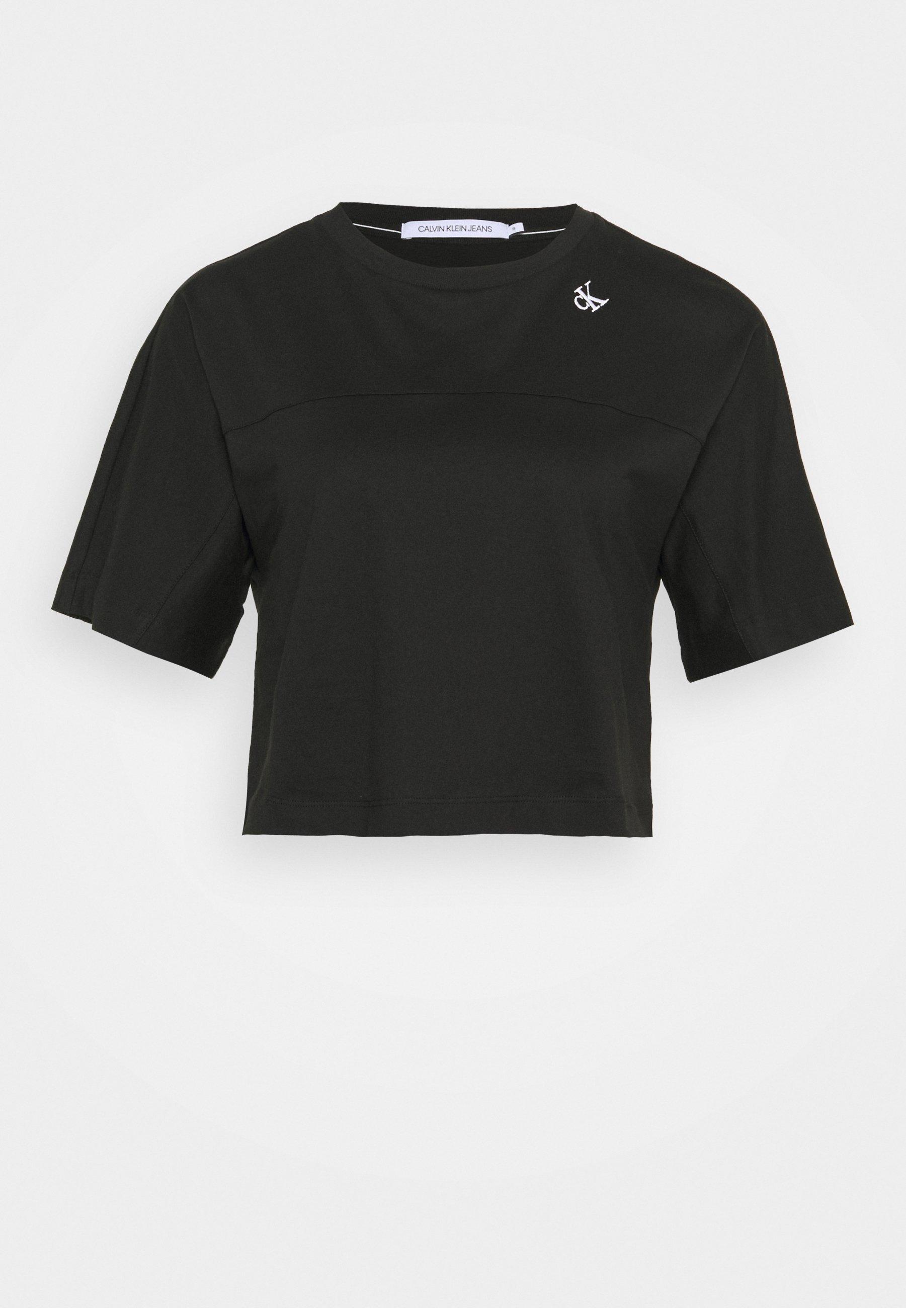 Women LOGO TAPE CROP TEE - Print T-shirt