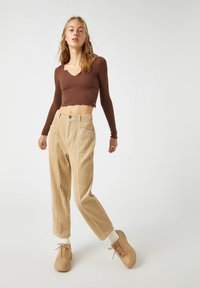 PULL&BEAR - Long sleeved top - dark brown - 3