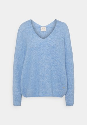 THORA V NECK - Pullover - bel air blue