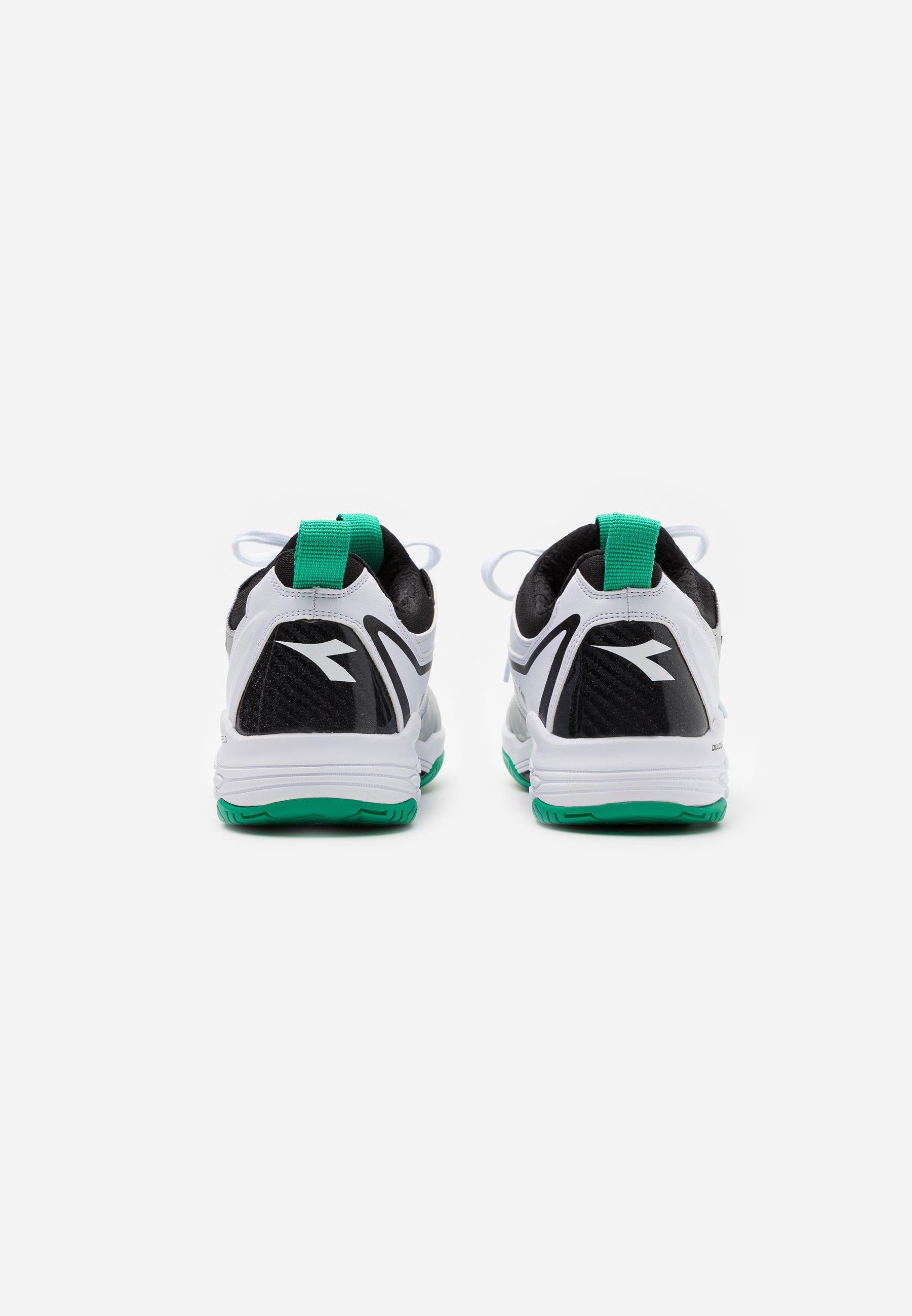 Ordine Scarpe da uomo Diadora SPEED BLUSHIELD FLY 2 + AG Scarpe da tennis per tutte le superfici white/holly green/black