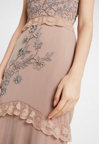 Maya Deluxe - V NECK MAXI DRESS WITH PLACEMENT EMBELLISHMENT AND DETAILING - Occasion wear - taupe blush - 7