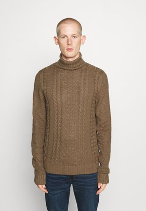 JJKIM ROLL NECK - Sweter - sepia tint