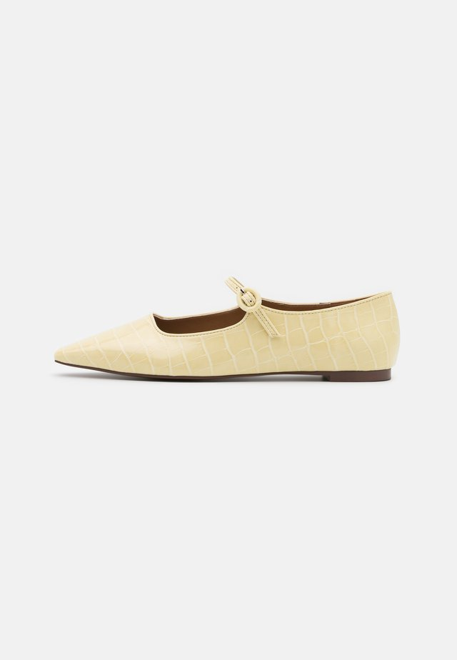 MARJORY - Ankle strap ballet pumps - french vanilla