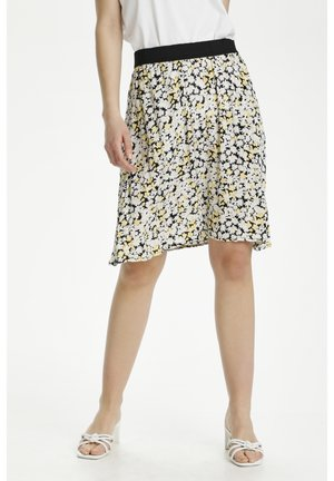 KAFELIA AMBER  - A-line skirt - golden haze and chalk daisy