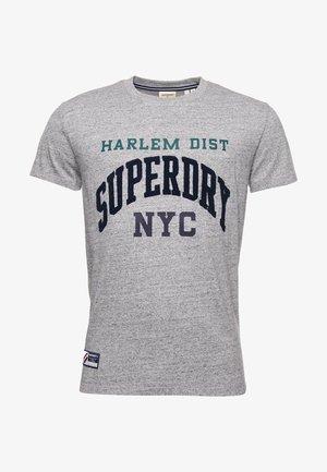 T-Shirt print - grey slub grindle