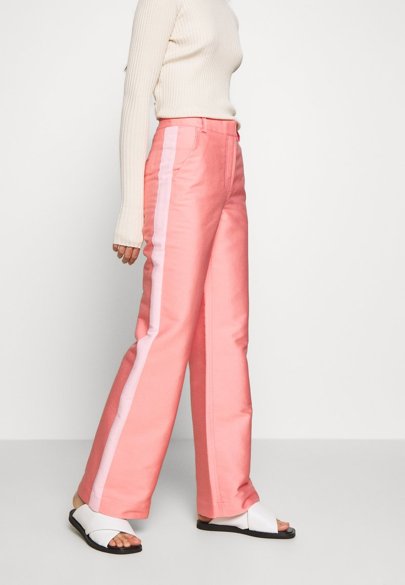 DESIGNERS REMIX - HAILEY FLARE - Trousers - pink