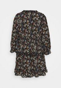 Missguided Plus - FRILL CUFF SKATER DRESS POLKA - Day dress - black - 1