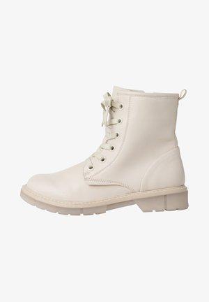 Platform ankle boots - cream