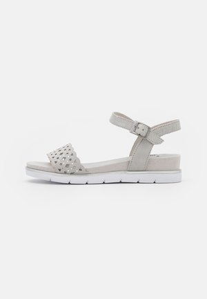 Wedge sandals - light grey