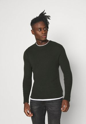Jumper - khaki/optic white
