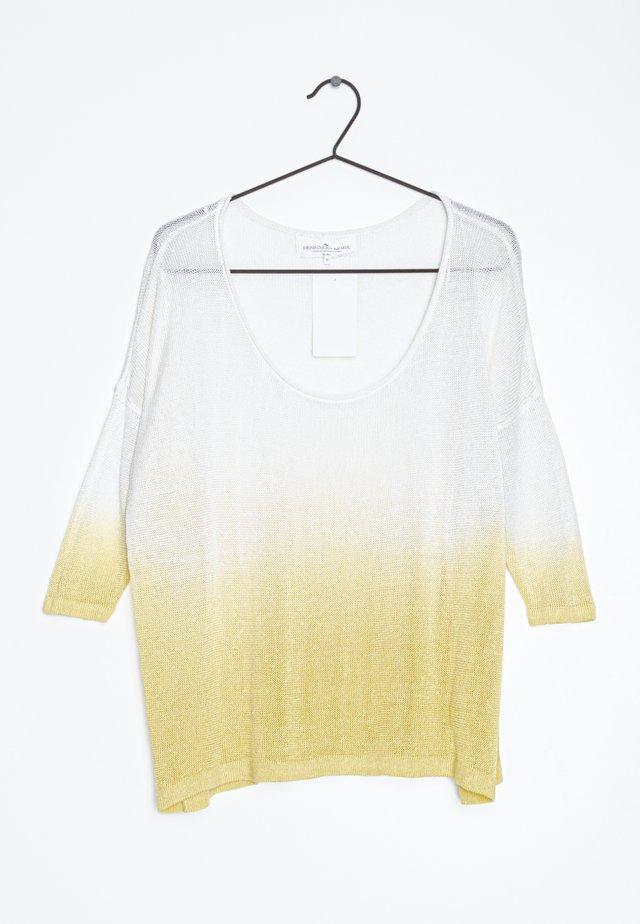 Trui - white yellow