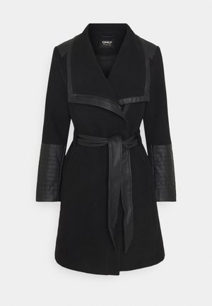 ONLELLY MIX COAT - Klassisk kåpe / frakk - black