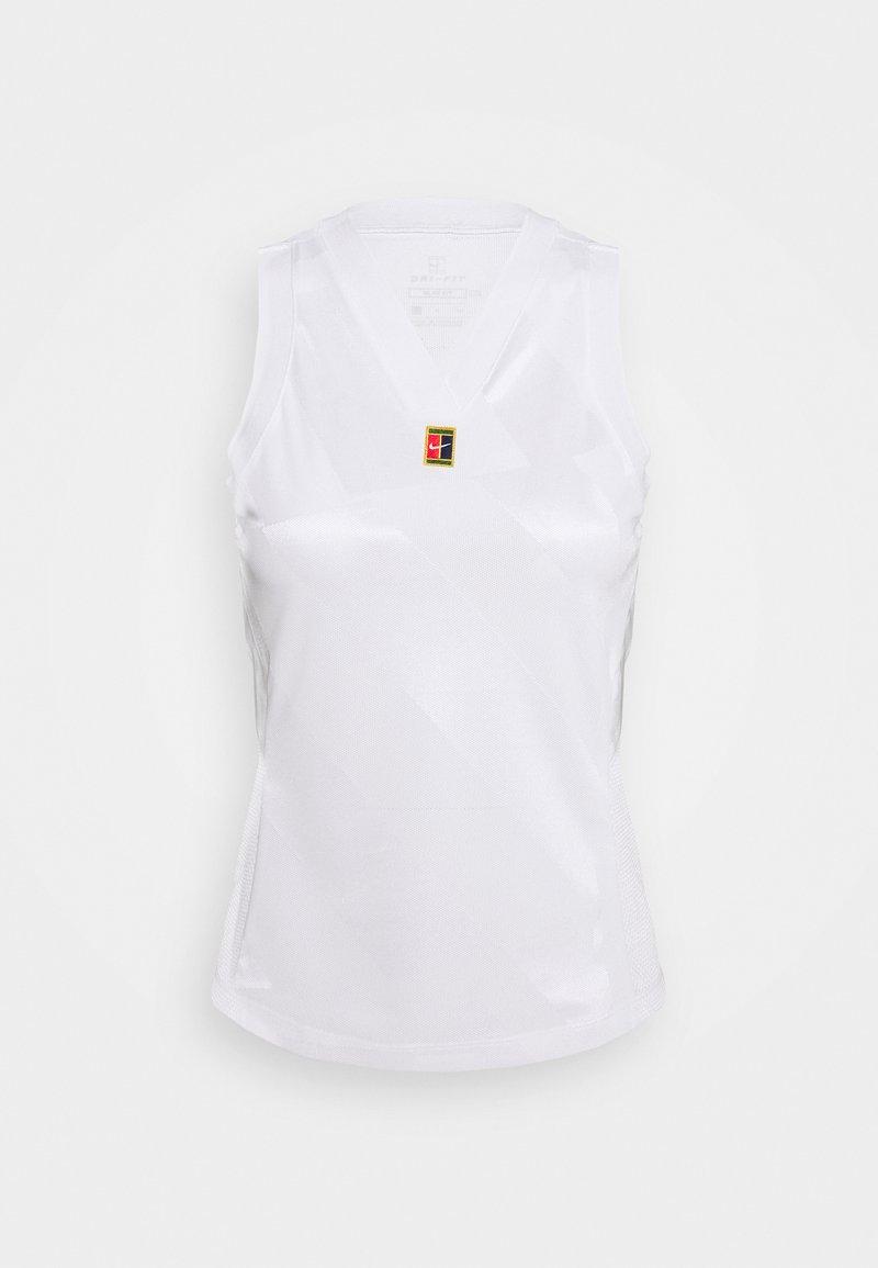 Nike Performance - DRY SLAM TANK - Sports shirt - white