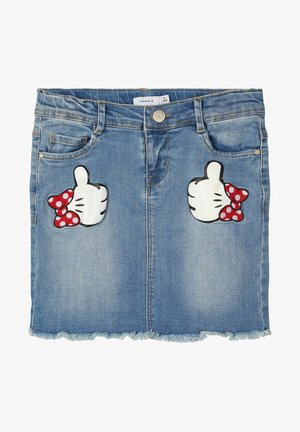 DISNEY MINNIE MOUSE - Jeansrok - medium blue denim