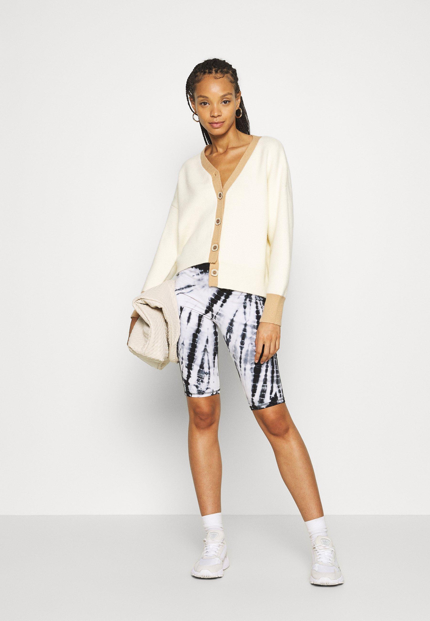 Fashion Union Contrassy - Cardigan Cream/beige