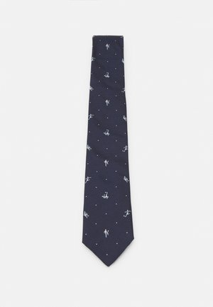 MEN TIE FOOTBALLER - Tie - dark blue