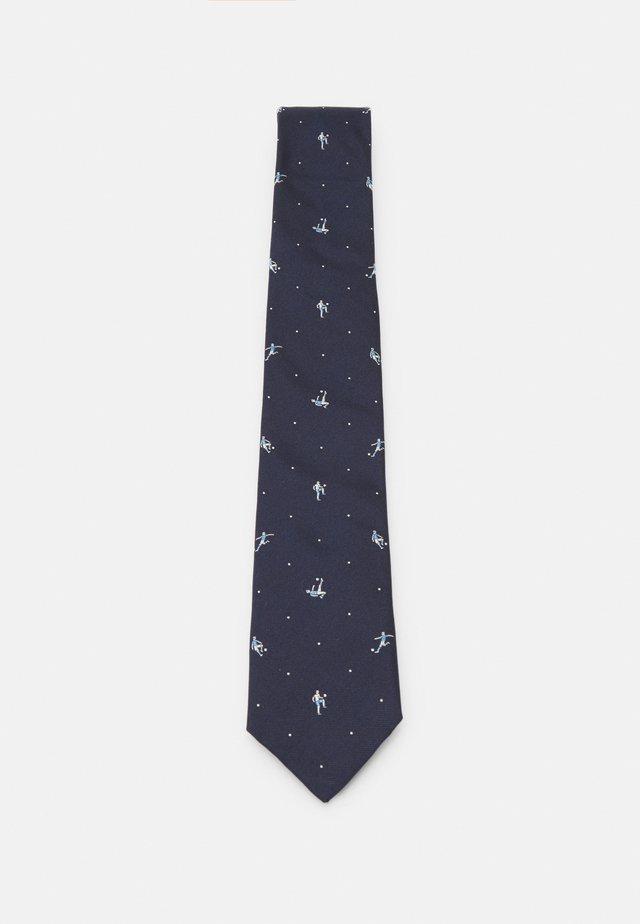 MEN TIE FOOTBALLER - Krawat - dark blue