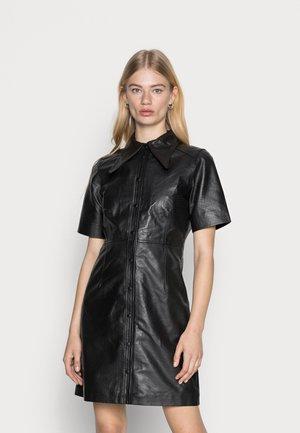 OBJLAUR DRESS - Shirt dress - black