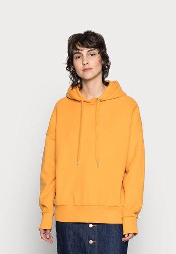 FELPA HOODIE - Hoodie - golden orange